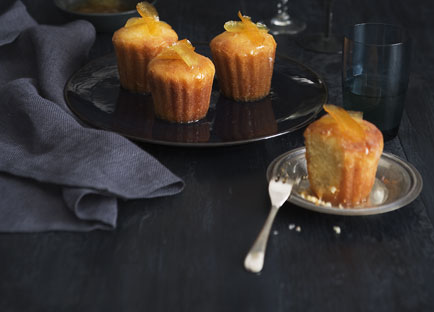 Sugared citrus cakes