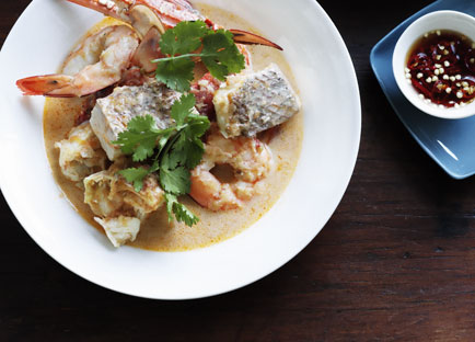 Brigitte Hafner: Crab, prawn, lemongrass and coconut soup