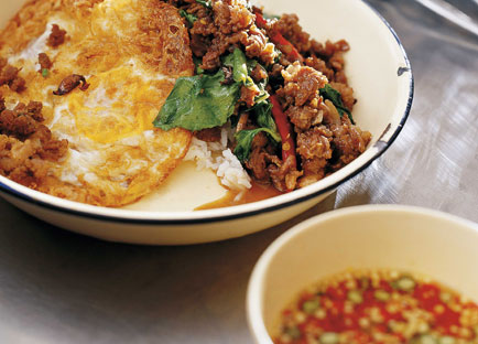 David Thompson: Stir-fried minced beef with chillies and holy basil (Neua pat bai grapao)