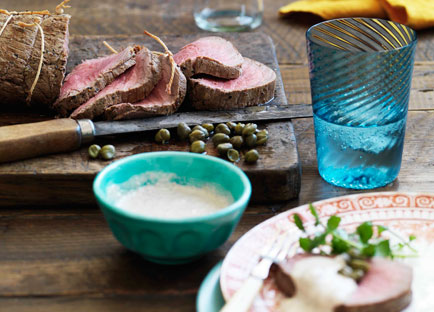 Cold roast beef fillet with tonnato sauce