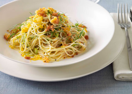 Bottarga and fennel spaghettini