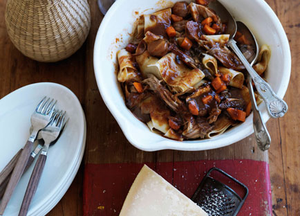 Braised pork ragu with porcini and muscat