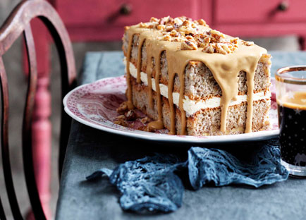 Walnut and espresso cake