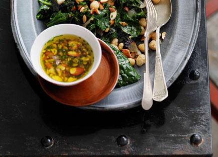 Shane Delia: Autumn greens and beans, smoked almonds and garlic