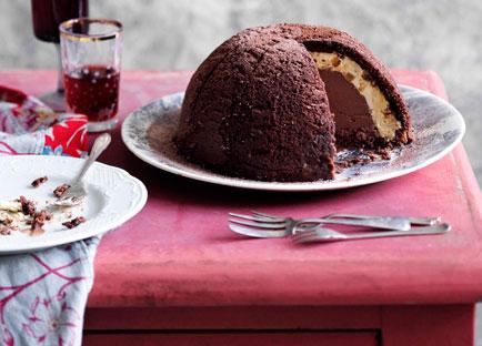 Chocolate and hazelnut zuccotto