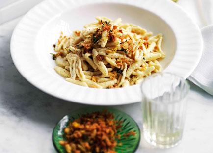 Provolone and lemon capunti