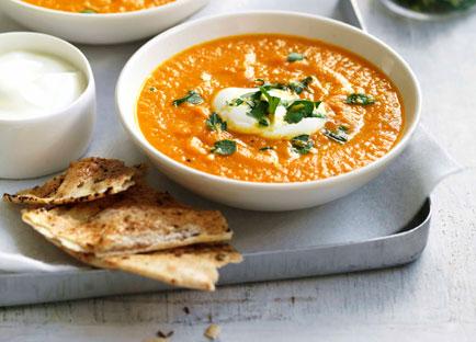 Roast carrot and cumin soup