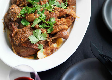 Burmese duck leg and potato curry