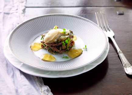 Tony Bilson: Petite salade of oxtail and Sydney rock oyster
