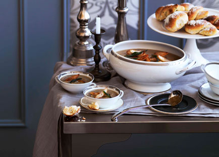 Roast Jerusalem artichoke soup