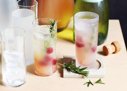 Gin and naked barley water