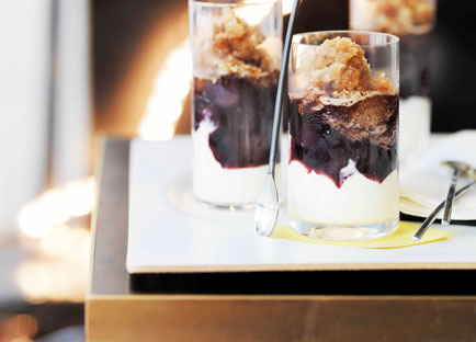 Homemade mascarpone, espresso granita and cherries