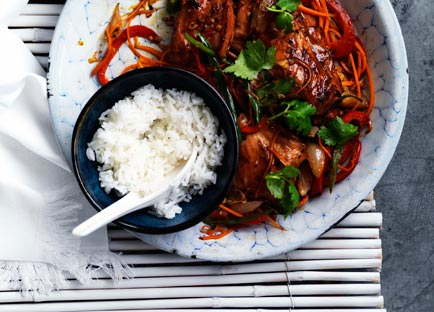 Lemongrass chicken with rice
