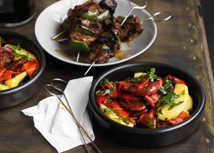 Chorizo, potato and pepper salad