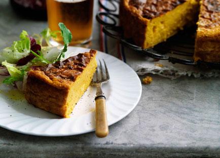 Savoury pumpkin cake