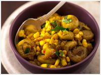 Turmeric mushroom and corn