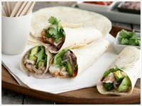 Grilled chicken tortillas