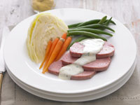 Corned beef with parsley sauce