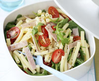 Pasta, tomato and cheese salad