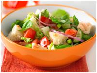 Bread salad (fattoush)