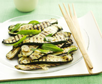 Chargrilled zucchini salad with mint