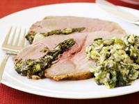 Burghul and lentil salad with lamb chops