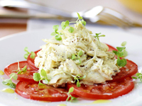 Lightly curried crab mayonnaise