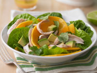 Pawpaw, avocado and chicken salad