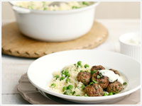 Spiced meatballs with couscous