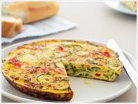 Zucchini and capsicum frittata