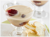 Zabaglione with plums