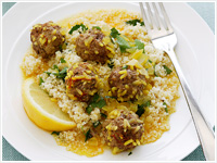 Meatballs in saffron