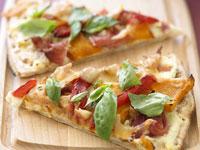 Ricotta, pumpkin and capsicum pizza