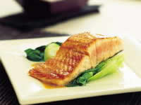 Salmon with teriyaki butter