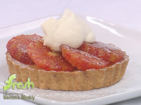 blood orange tartlets