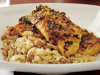 Chermoula chicken with onion couscous