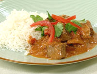 Balti beef curry