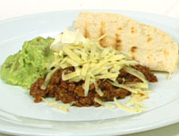Spicy Mexican mince and guacamole