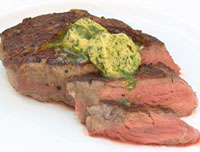 The perfect steak with herb butter