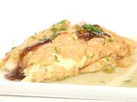 Stir fried spanner crab omlette