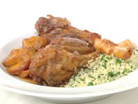 Moroccan lamb shanks with pumpkin and dates