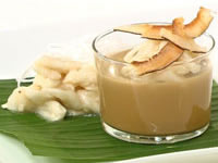 Custard apple and Thai coffee pudding