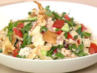 White bean and fish fattoush salad