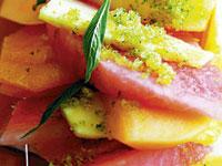 Fruit salad with citrus sugar
