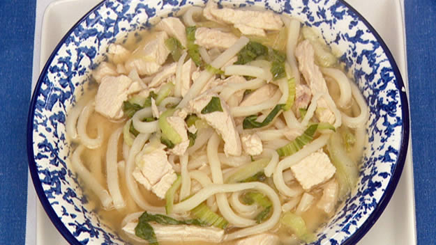 Chicken miso and noodle soup