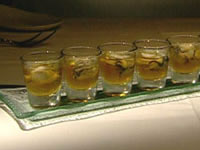 Japanese inspired oyster shooters