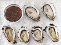 Oysters with herb and chilli vinegar