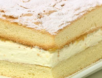 Sponge ricotta slice