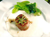 Beef fillet with vichysoisse puree