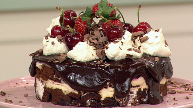 Black forest trifle cake
